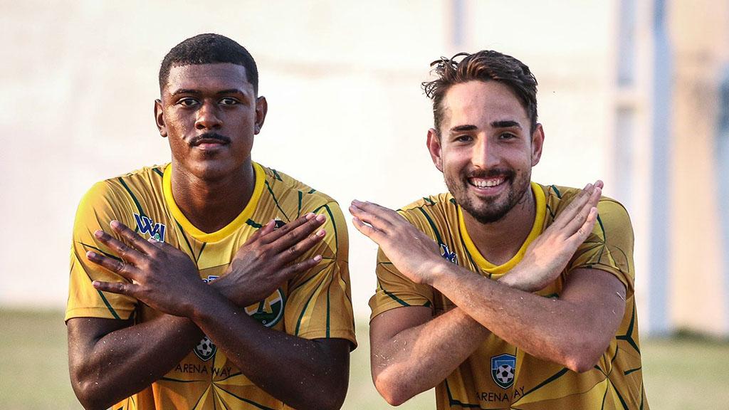 Hugo Santos e Maurício Stronda celebram primeira vitória do 7 de Abril